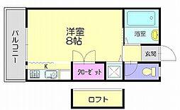 福岡県糟屋郡須惠町大字上須惠の賃貸マンションの間取り