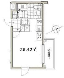 東京メトロ副都心線 北参道駅 徒歩5分の賃貸マンション 3階ワンルームの間取り