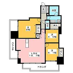 ザ・テラス三好ヶ丘[8階]の間取り
