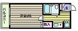 兵庫県神戸市東灘区青木5丁目の賃貸マンションの間取り