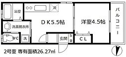 LuXe本庄東[2階]の間取り