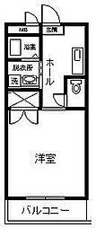 サンライズ山田II[201号室]の間取り