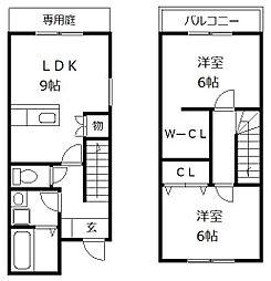 Viange粕屋[2階]の間取り