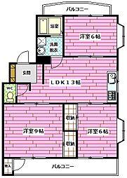 サンプラザK[1階]の間取り
