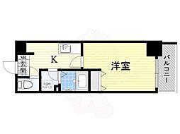 阪神本線 淀川駅 徒歩7分の賃貸マンション 8階1Kの間取り