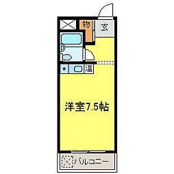 ドムス千代田 馬酔木館[216号室]の間取り