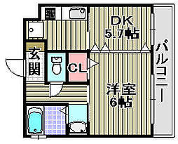 GRECALE松ノ浜[202号室]の間取り