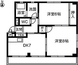 大津マンション[102号室]の間取り
