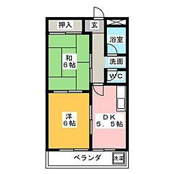 サンコーポヤトミ[2階]の間取り