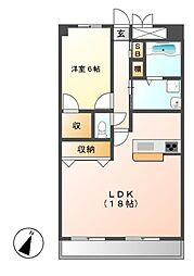 CSPNAGOYA(シーエスピーナゴヤ)[2階]の間取り