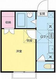 シャンブル松本VI・VII[2階]の間取り