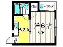 マンションオークラ境[2階]の間取り