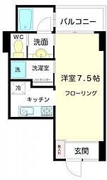 東京都荒川区東日暮里6丁目の賃貸マンションの間取り