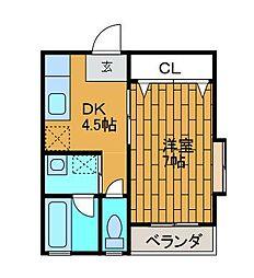 ペルルエクラ[3階]の間取り