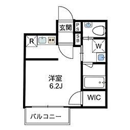 エスペランサ神田神保町II 3階ワンルームの間取り