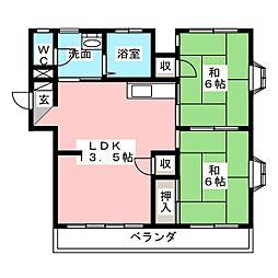 サンシャイン大塚[1階]の間取り