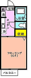 シャーメゾン椿森[205号室]の間取り