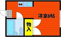 シスター中井[4階]の間取り