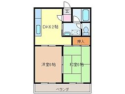 静岡県富士宮市小泉の賃貸マンションの間取り