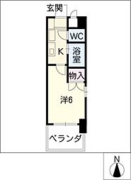 レジデンス中島[3階]の間取り