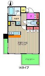 リーガルタワー福島[6階]の間取り