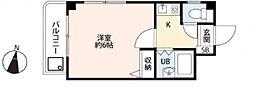 ルミエールUOZAKI[203号室号室]の間取り