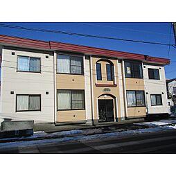 北海道苫小牧市新中野町2丁目の賃貸アパートの外観