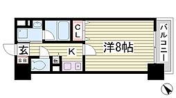 アミーグランコート三宮[11階]の間取り