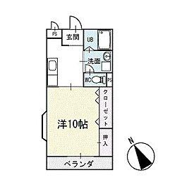 エバーグリーン 2階[204号室]の間取り