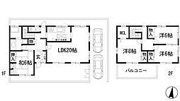 [一戸建] 兵庫県西宮市段上町4丁目 の賃貸【/】の間取り