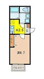 キャメル所沢美原町[1階]の間取り