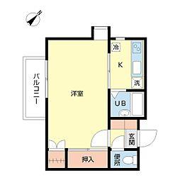 メイプルハウス[205号室]の間取り