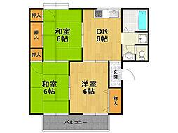 セジュール栄和[2階]の間取り