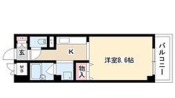 愛知県名古屋市南区三吉町3丁目の賃貸マンションの間取り