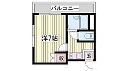 JR東海道・山陽本線 明石駅 徒歩5分の賃貸マンション 4階ワンルームの間取り
