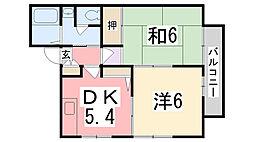 ハイツ天川 B[102号室]の間取り