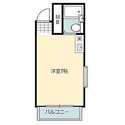 フジイマンション岩田[3階]の間取り
