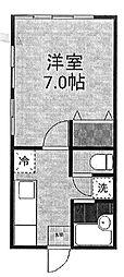 三恵莊[3号室号室]の間取り