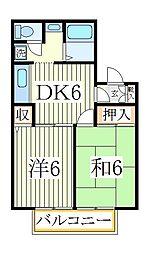 メゾン松本D[2階]の間取り
