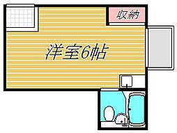 メゾンドール用賀B棟[2階]の間取り
