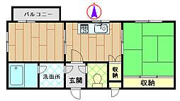 メゾンマリューム[2階]の間取り