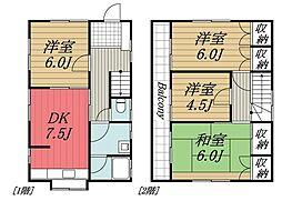 [一戸建] 千葉県富里市根木名 の賃貸【/】の間取り