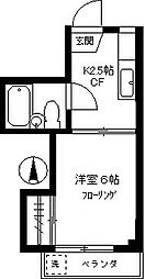 ハシビック狛江[203号室]の間取り