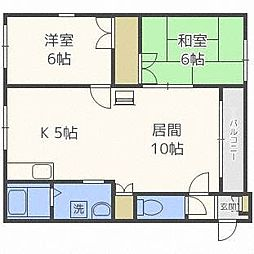 北海道札幌市豊平区月寒東二条3丁目の賃貸アパートの間取り