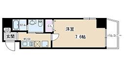 K・CASA大宮(ケ・カーザ大宮) 2階1Kの間取り
