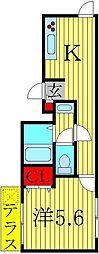 柏桜苑マンション[105号室]の間取り