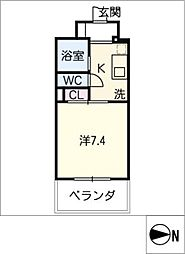 ハイム伝馬町[7階]の間取り