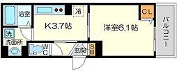 (仮称)東淀川区菅原D-room 3階1Kの間取り