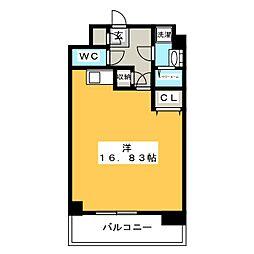 アイサフィール博多駅東[2階]の間取り