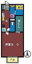 Camellia 2[101号室]の間取り